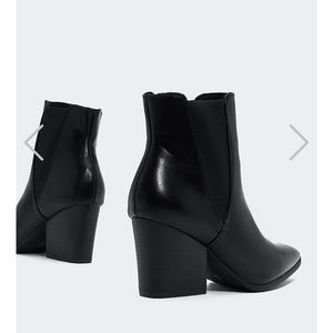 Very cute pointed toe black booties